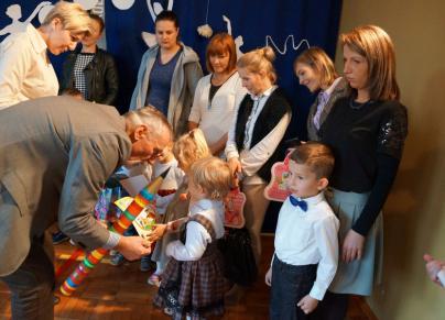 Pasowanie na przedszkolaka w Szkole Podstawowej w Dunowie